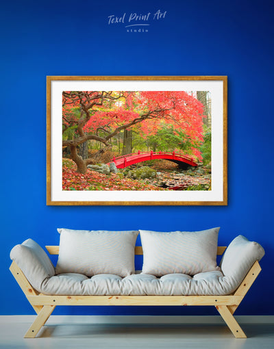 Framed Japanese Garden Nature Wall Art Print - asian wall art bedroom framed print japanese wall art Living Room