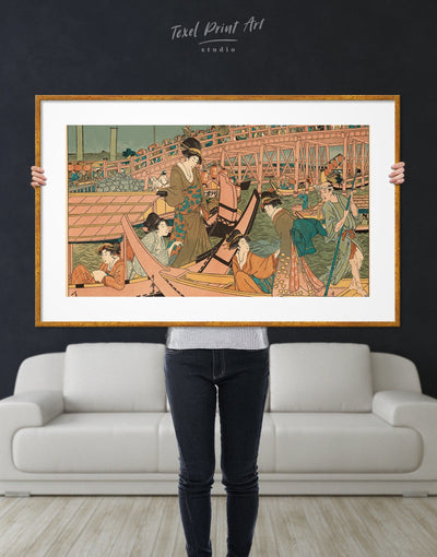 Framed Japanese Wall Art Print - bedroom framed print Hallway japanese wall art Living Room