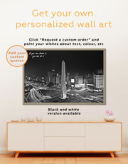 Framed July 9 Avenue Wall Art Canvas