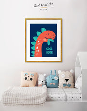 Framed Kids Dinosaur Wall Art Print