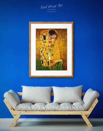 Framed Kiss by Gustav Klimt Wall Art Print - art gallery wall bedroom framed print Gustav Klimt Hallway