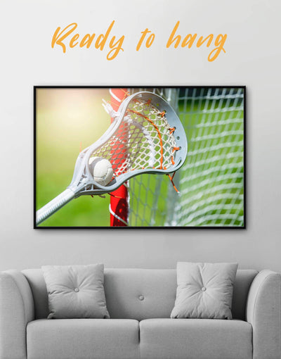 Framed Lacrosse Wall Art Canvas - Canvas Wall Art bachelor pad framed canvas green Hallway lacrosse