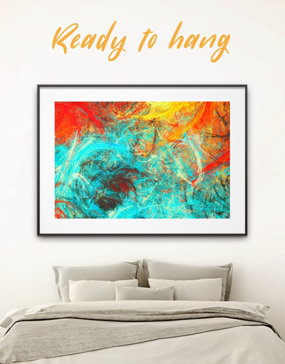 Framed Large Abstract Wall Art Print - Abstract Blue Abstract Wall art Bright colored Contemporary contemporary wall art