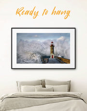 Framed Lighthouse Wall Art Print