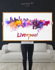 Framed Liverpool Skyline Canvas Wall Art