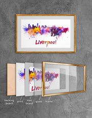 Framed Liverpool Skyline Print