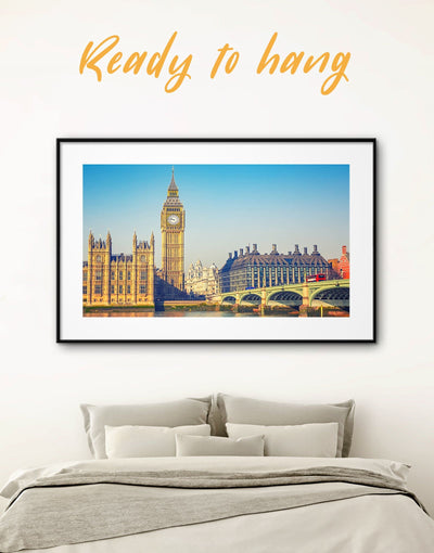 Framed London Big Ben Wall Art Print - bedroom City Skyline Wall Art Cityscape Dining room framed print