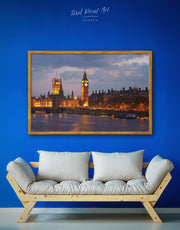 Framed London City Wall Art Canvas
