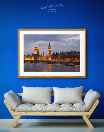 Framed London Wall Art Canvas Print - bedroom City Skyline Wall Art Cityscape framed print Living Room
