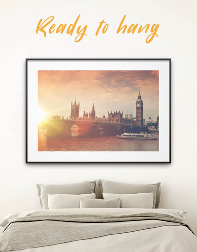 Framed London Wall Art Print - bedroom City Skyline Wall Art Cityscape framed print Living Room