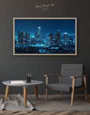Framed Los Angeles Skyline Wall Art Canvas