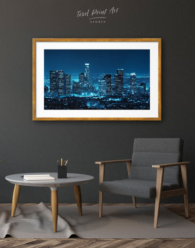 Framed Los Angeles Skyline Wall Art Print - Wall Art bedroom City Skyline Wall Art Cityscape framed print Hallway