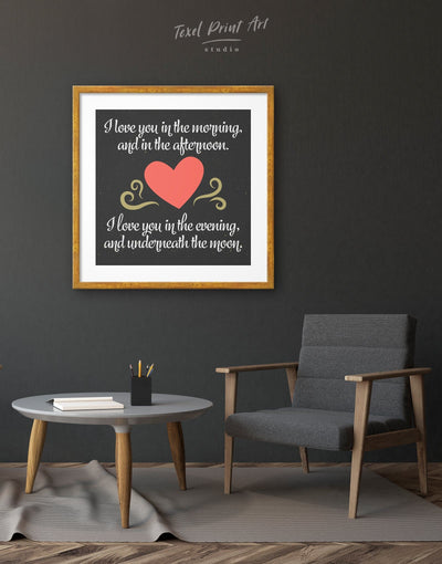 Framed Love Quote Wall Art Print - Wall Art bedroom black framed print Hallway inspirational wall art