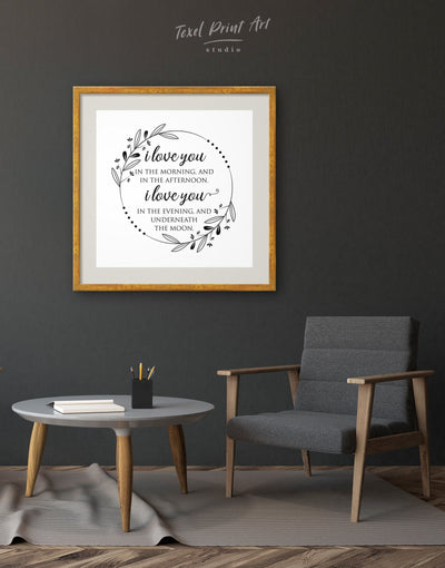 Framed Love Wall Art Print - Wall Art bedroom framed print Hallway inspirational wall art Living Room