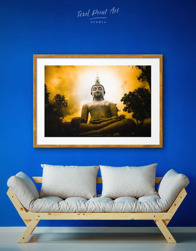 Framed Meditation Buddha Wall Art Print - bedroom Black Buddha wall art buddhist wall art framed print