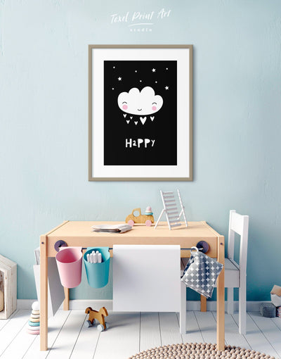 Framed Modern Nursery Art Print - Wall Art black black and white framed print Kids room kids wall art
