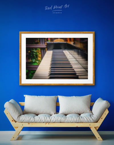 Framed Modern Piano Wall Art Print - black and white wall art framed print inspirational wall art Living Room Music studio