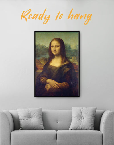 Framed Mona Lisa by Leonardo da Vinci Wall Art Canvas - Canvas Wall Art bedroom da Vinci framed canvas Hallway Leonardo da Vinci