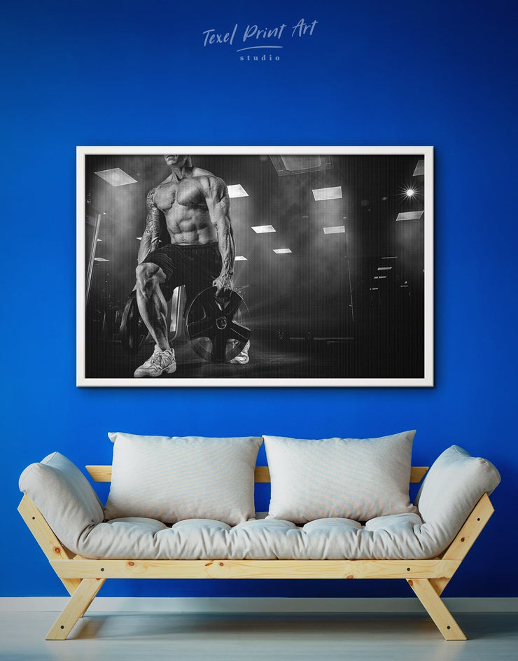Framed Motivational Wall Art Canvas - black and white framed wall art black and white wall art framed canvas framed wall art Home Gym