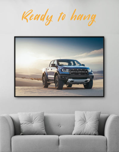 Framed New Baby Ford Raptor Wall Art Canvas - bachelor pad car framed print garage wall art wall art for men