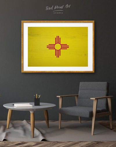 Framed New Mexico Flag Wall Art Print - Wall Art flag wall art framed print Hallway Living Room Office Wall Art