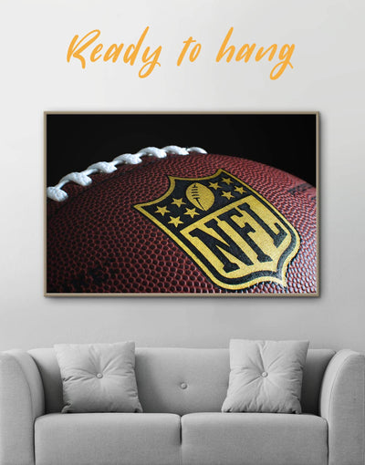 Framed NFL Canvas Wall Art - Canvas Wall Art bachelor pad framed canvas Living Room NFL Office Wall Art