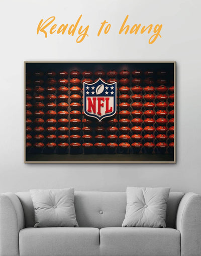Framed NFL Canvas Wall Art - Canvas Wall Art bachelor pad framed canvas Hallway Living Room NFL