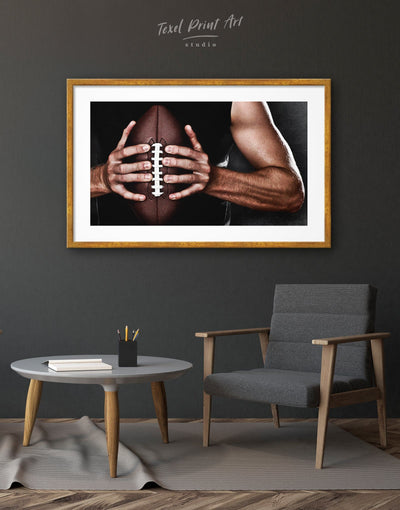 Framed NFL Print Wall Art - Wall Art bachelor pad framed print Hallway Living Room manly wall art