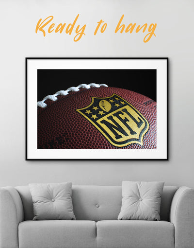 Framed NFL Print Wall Art - Wall Art bachelor pad framed print Living Room NFL Office Wall Art
