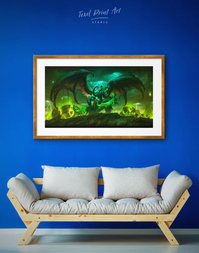 Framed Night Elf WOW Wall Art Print - bachelor pad bedroom framed print game room game room wall art
