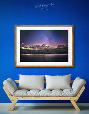 Framed Night Sky Wall Art Print