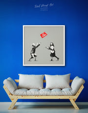 Framed No Ball Games by Banksy Wall Art Canvas