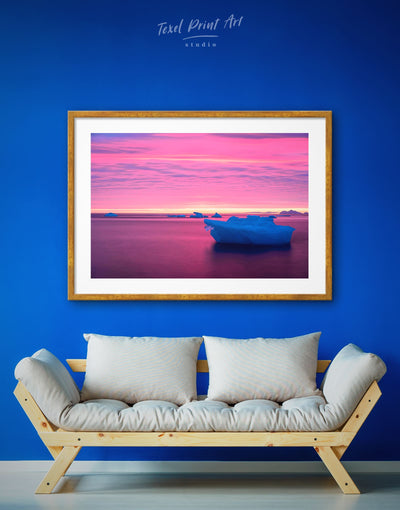 Framed Northern Ice Wall Art Print - bedroom framed print Living Room Nature Office Wall Art