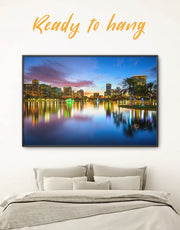 Framed Orlando Skyline Wall Art Canvas