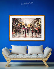 Framed Paris Painting Wall Art Print