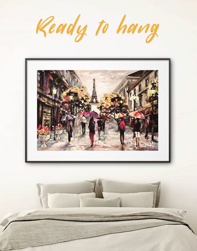 Framed Paris Painting Wall Art Print - bedroom eiffel tower wall art framed print framed wall art french wall art