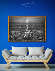 Framed Paris Skyline Wall Art Canvas