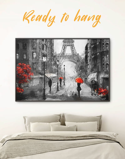 Framed Paris Wall Art Canvas - eiffel tower wall art framed canvas french wall art inspirational wall art living room wall art
