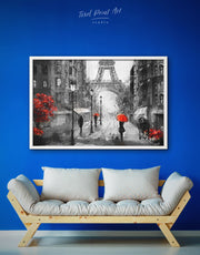 Framed Paris Wall Art Canvas