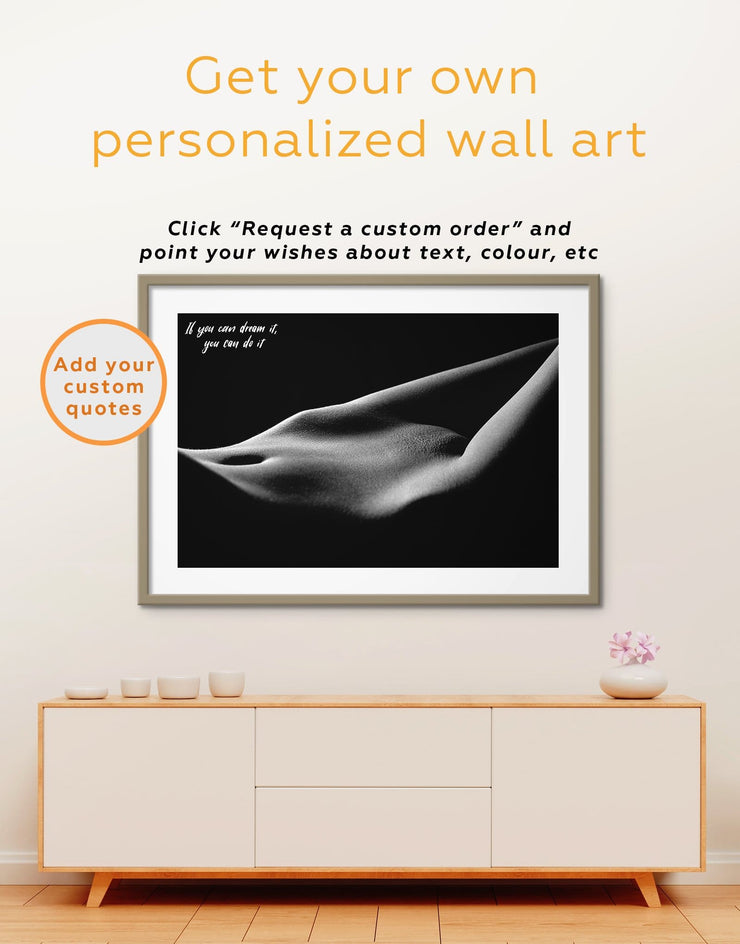 Framed Passionate Wall Art Print - bachelor pad bedroom black and white framed wall art black and white wall art Erotic