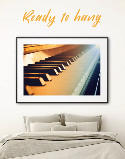 Framed Piano Keyboard Wall Art Print - bedroom framed print inspirational wall art Living Room living room wall art