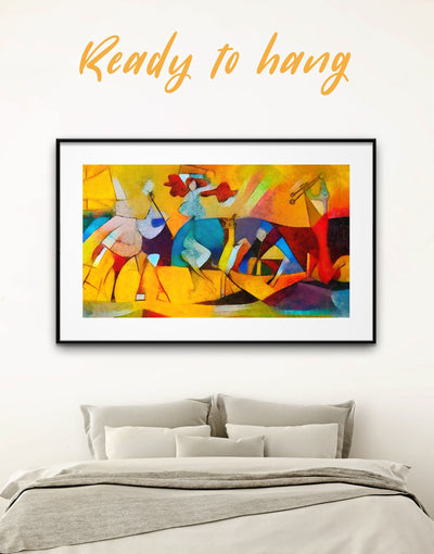 Framed Picasso Wall Art Print - Abstract art gallery wall bedroom Contemporary contemporary wall art