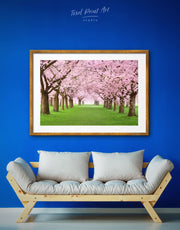 Framed Pink Cherry Blossom Wall Art Print