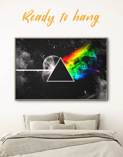 Framed Pink Floyd Album Cover Wall Art Canvas - Abstract bedroom Black framed canvas Living Room