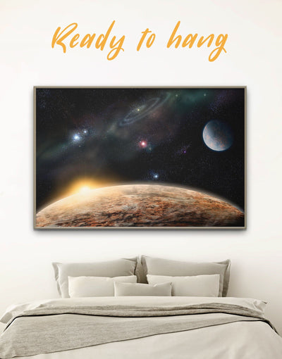 Framed Planet and Space Wall Art Canvas - bedroom Constellations Wall Art Dining room dining room wall art framed canvas