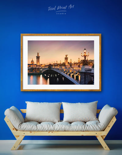 Framed Pont Alexandre III Bridge of Paris Wall Art Print - Bridge Dining room framed framed print Hallway