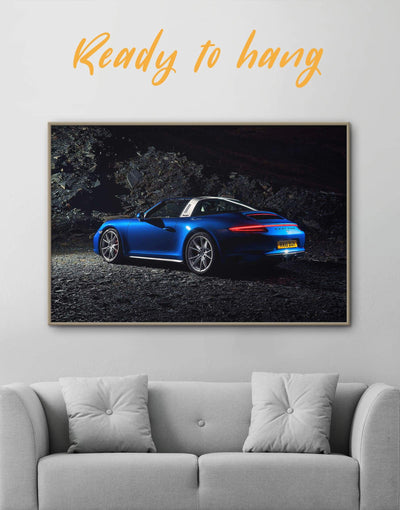 Framed Porche Wall Art Canvas - bachelor pad car framed canvas garage wall art Living Room