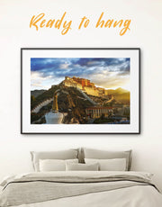 Framed Potala Palace in Lhasa Wall Art Print