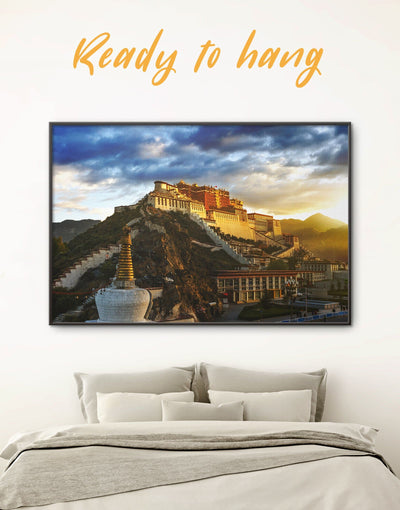 Framed Potala Palace Wall Art Canvas - Architectural Wall Art bedroom buddhist wall art Dining room dining room wall art