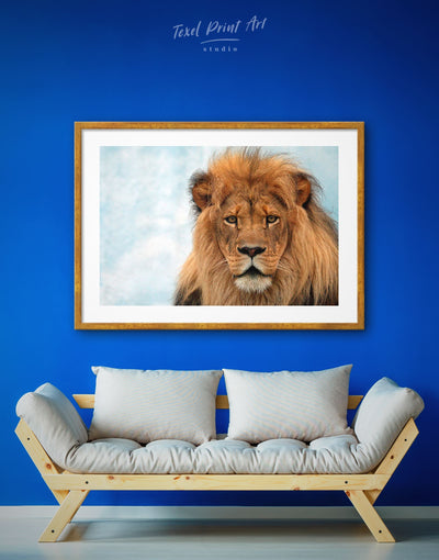 Framed Pride Lion Wall Art Print - Animal Animals framed print Hallway lion wall art